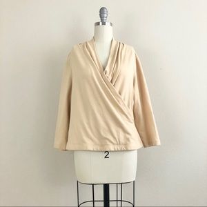 Finity Naturals Faux Wrap Long Sleeve Blouse